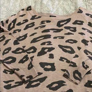Blush animal print sweater
